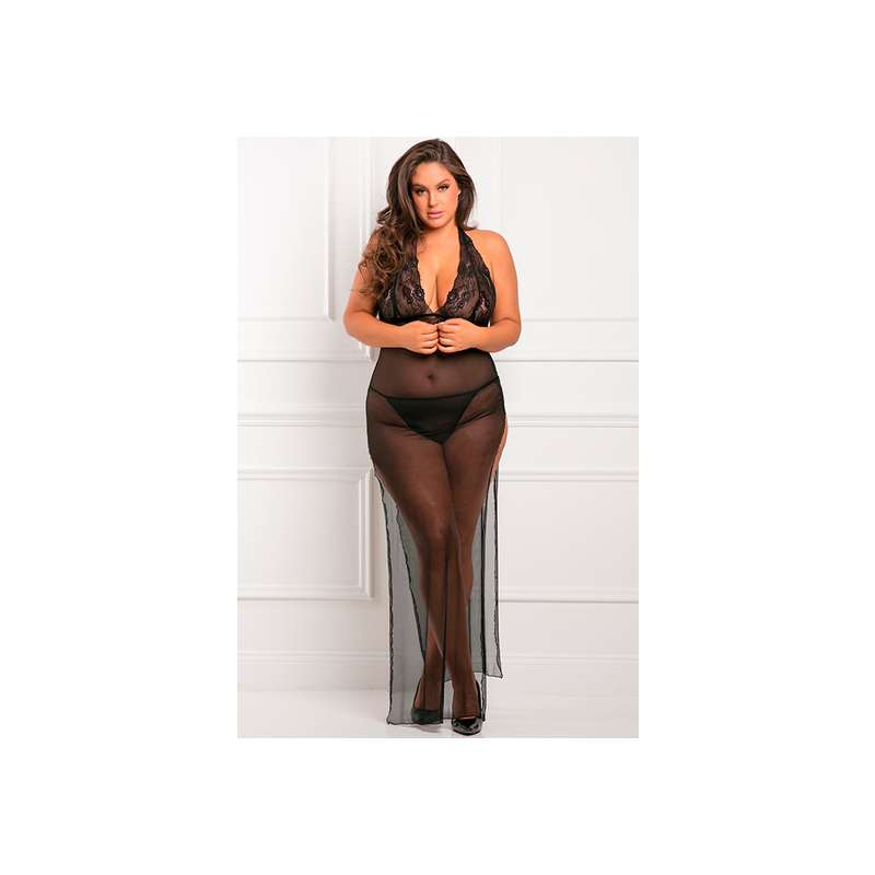 ALL OUT THERE 2PC GOWN SET VESTIDO NOCHE NEGRO