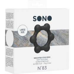 NO 83 WEIGHTED COCK RING BLACK